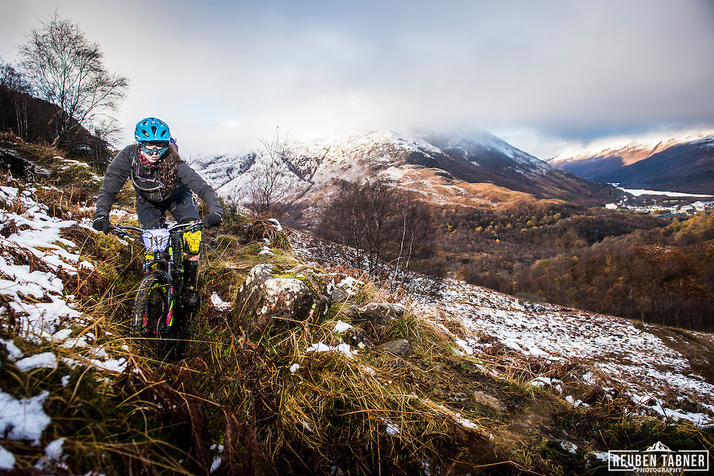 Abigale Lawton tackles stage one of the Kinlochleven Enduro.