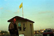 The Kurdish check point on the front line between Iraqi Kurdistan and Iraq...Khalek, Iraqi Kurdistan. 13/11/2002...Photo © J.B. Russell