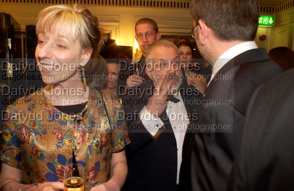 Charlotte Holdich and Mike Leigh. 25th  annual Awards of the London critic's Circle in aid of the NSPCC. The Dorchester. Park Lane. London. 9 February 2005. ONE TIME USE ONLY - DO NOT ARCHIVE  © Copyright Photograph by Dafydd Jones 66 Stockwell Park Rd. London SW9 0DA Tel 020 7733 0108 www.dafjones.com