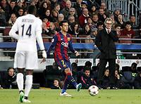Paris Saint-Germain's coach Laurent Blanc during Champions League 2014/2015 match.December 10,2014. (ALTERPHOTOS/Acero)