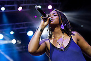 Natalie Stewart of Floetry performs during the Summer Spirit Festival 2015 at Merriweather Post Pavilion in Columbia, MD on Saturday, August 8, 2015.