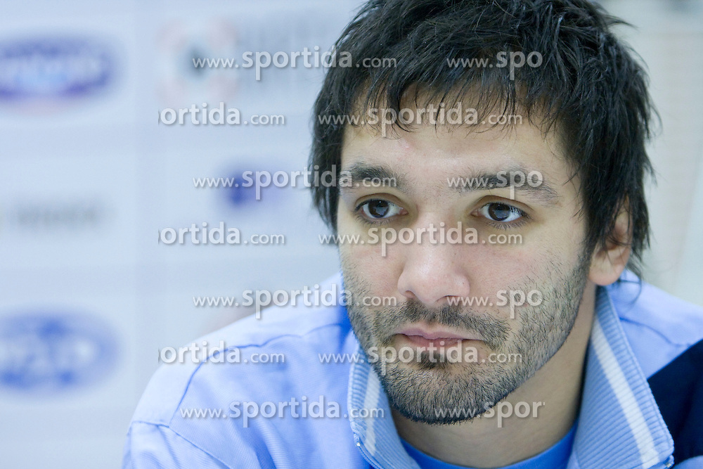 David Spiler at press conference of Handball Men National Team of Slovenia before match with Bolgaria,  on November 24, 2008 in RZS, Ljubljana, Slovenia.  (Photo by Vid Ponikvar / Sportida)