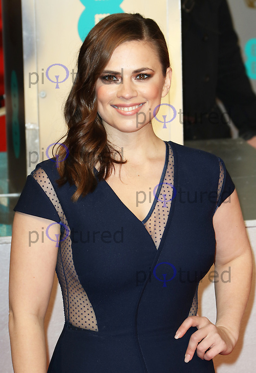 Hayley Atwell, EE British Academy Film Awards (BAFTAs), Royal Opera House Covent Garden, London UK, 08 February 2015, Photo by Richard Goldschmidt