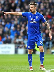 Joe Ralls of Cardiff City gives orders - Mandatory by-line: Nizaam Jones/JMP - 17/02/2018 -  FOOTBALL - Cardiff City Stadium - Cardiff, Wales -  Cardiff City v Middlesbrough - Sky Bet Championship