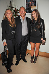 SIR PHILIP & LADY GREEN and their daughter CHLOE GREEN at the launch party for 'Promise', a new capsule ring collection created by Cheryl Cole and de Grisogono held at Nobu, Park Lane, London on 29th September 2010.
