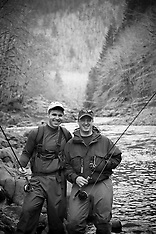 Wilson River Fly Fishing Photos - Stock images