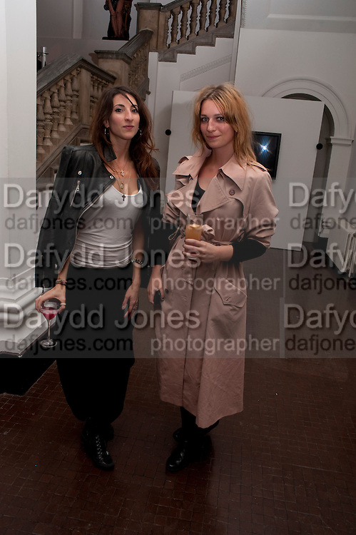 NINA RASSABY-LEWIS; VICKY LAWTON, KM3D-1 Film screening made by Baillie Walsh of Kate Moss. Hosted by another magazine. Hanuch of Venison. London. 16 Septemebr 2010.  -DO NOT ARCHIVE-© Copyright Photograph by Dafydd Jones. 248 Clapham Rd. London SW9 0PZ. Tel 0207 820 0771. www.dafjones.com.