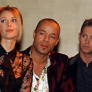 Perspresentatie Musicals in Concert 2004, Joke de Kruyff, Stanley Burleson en Danny de Munk