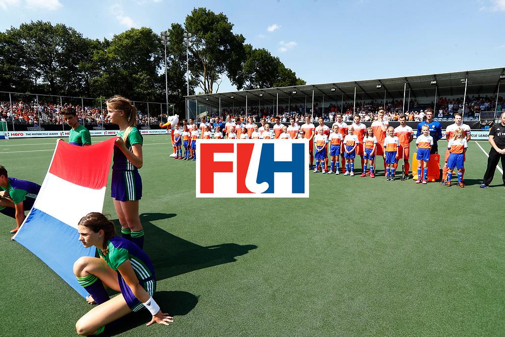 BREDA - line up Oranje tijdens Nederland- India bij  de Hockey Champions Trophy.  COPYRIGHT KOEN SUYK