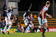 SYDNEY, AUSTRALIA - AUGUST 21: Melbourne Victory defender Thomas Deng (14) goes for the ball at the FFA Cup Round 16 soccer match between APIA Leichhardt Tigers FC and Melbourne Victory at Leichhardt Oval in Sydney on August 21, 2018. (Photo by Speed Media/Icon Sportswire)