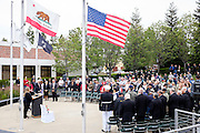 Amazing Grace is performed during the Memorial Day Ceremony at City Hall in Milpitas, California, on May 25, 2015. (Stan Olszewski/SOSKIphoto)