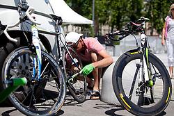 Bicycle at Hervisov rekreativni kronometer before prologue (17,8km) of Tour de Slovenie 2012, on June 17 2012, in Ljubljana, Slovenia. (Photo by Matic Klansek Velej / Sportida.com)