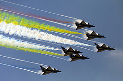 November 22, 2018 - Zhuhai, China - Aerobatic Team of the Chinese PLA Air Force performs at Zhuhai Airshow 2018 in Zhuhai, south China's Guangdong Province. (Credit Image: © SIPA Asia via ZUMA Wire)