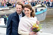 De koninklijke familie is in Zwolle voor de viering van Koningsdag. /// The royal family is in Zwolle for the celebration of King's Day.<br /> <br /> Op de foto / On the photo:  Prins Floris en Prinses Aimee