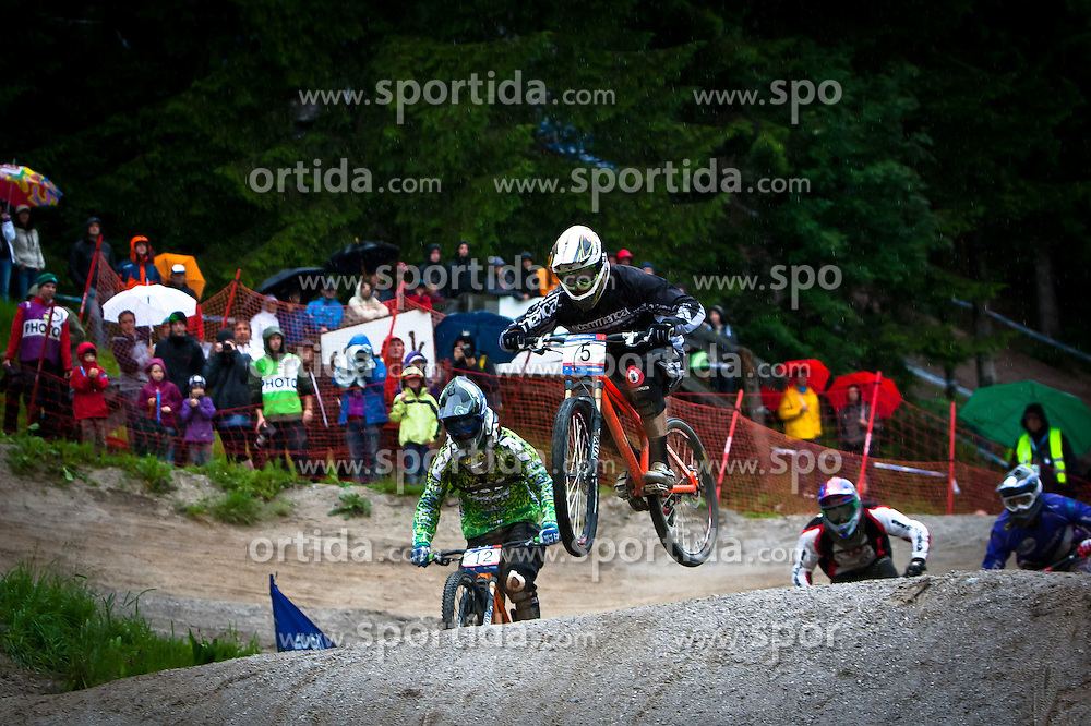 12.06.2011, Bikepark, Leogang, AUT, UCI MOUNTAINBIKE WORLDCUP, LEOGANG, im Bild Romain Saladini, FRA // during the UCI MOUNTAINBIKE WORLDCUP, LEOGANG, AUSTRIA, 2011-06-12, EXPA Pictures © 2011, PhotoCredit: EXPA/ J. Feichter , on June 11, 2011.