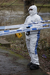 © Licensed to London News Pictures. 04/01/2018. Oxford, UK. The scene where the body of a 16 year old boy was discovered by a canal in Oxford, Oxfordshire yesterday evening. A man and a woman have been arrested after the victim was found with stab wounds at Friars Wharf, who later died in hospital. Photo credit: Peter Macdiarmid/LNP