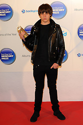 Mercury Prize. <br /> Jake Bugg attends the Barclaycard Mercury Prize at The Roundhouse, London, United Kingdom. Wednesday, 30th October 2013. Picture by Chris Joseph / i-Images