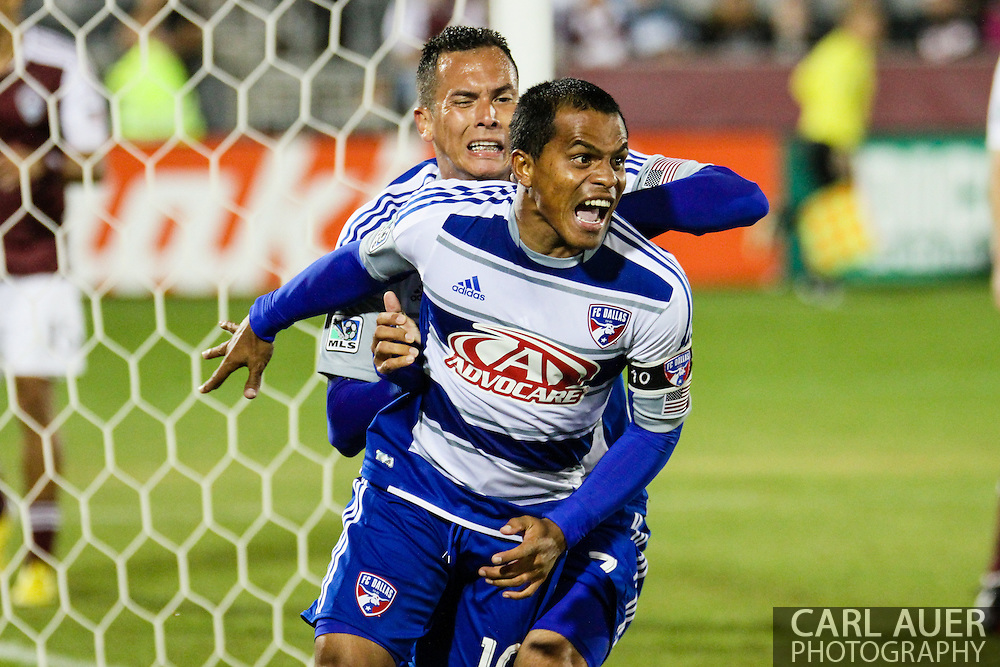 September 14th, 2013 -  FC Dallas midfielder David Ferreira (10) celebrates scoring the first goal of the game in the second half of the MLS Soccer game between FC Dallas and the Colorado Rapids at Dick's Sporting Goods Park in Commerce City, CO
