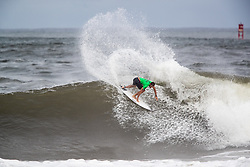 Ramzi Boukhiam of Morocco advances to round three after placing second in round two heat 1 of the 2018 Hawaiian Pro at Haleiwa, Oahu, Hawaii, USA.