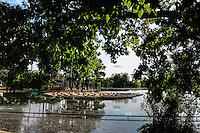 The upper lake in Bois de Boulogne, Paris, France.