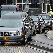 NLD/Amsterdam//20170309 - Herdenkingsdienst Guus Verstraete, Begrafenisstoet Guus Verstraete