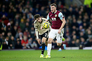 Burnley forward Chris Wood (9) during the Premier League match between Burnley and Manchester United at Turf Moor, Burnley, England on 28 December 2019.