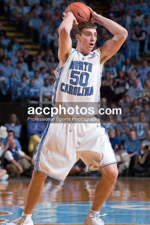 02 December 2006: North Carolina forward (50) Tyler Hansbrough during a 75-63 North Carolina Tar Heels victory over the Kentucky Wildcats at the Dean Smith Center in Chapel Hill, NC.<br />