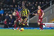 Burton Albion forward Lucas Akins on the attack during the Sky Bet League 1 match between Burton Albion and Bradford City at the Pirelli Stadium, Burton upon Trent, England on 6 February 2016. Photo by Aaron Lupton.