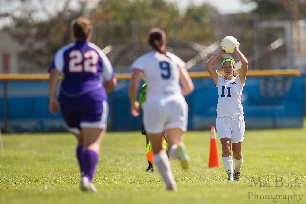 Gloucester County College Sophomore Midfielder Lindsay Devlin (11) - GCC Women's Soccer vs Bergen Community College at Gloucester County College in Sewell, NJ on Saturday September 21, 2013. (photo / Mat Boyle)