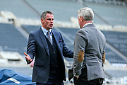 Sky Sports pundit and ex-Liverpool player Jamie Carragher ahead of the Premier League match between Newcastle United and Liverpool at St. James's Park, Newcastle, England on 4 May 2019.