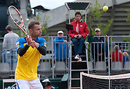 Mariusz Fyrstenberg of Poland competes at men's double game while Day Third during The French Open 2013 at Roland Garros Tennis Club in Paris, France...France, Paris, May 28, 2013..Picture also available in RAW (NEF) or TIFF format on special request...For editorial use only. Any commercial or promotional use requires permission...Mandatory credit:.Photo by © Adam Nurkiewicz / Mediasport