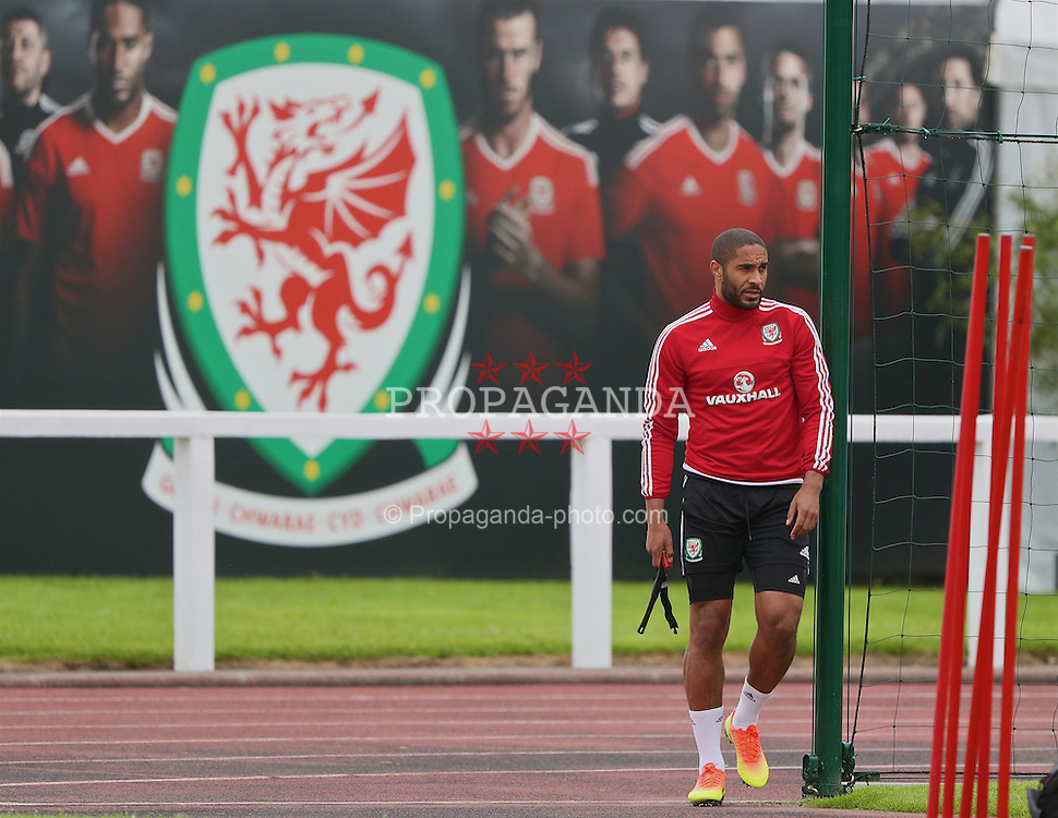 DINARD, FRANCE - Thursday, June 23, 2016: Wales' captain Ashley Williams during a training session at their base in Dinard as they prepare for the Round of 16 match during the UEFA Euro 2016 Championship. (Pic by David Rawcliffe/Propaganda)