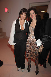 Left to right, TRACEY EMIN and MOLLIE DENT-BROCKLEHURST at the Art Plus Drama party Held at the Whitechapel Art Gallery, London E1 on 8th March 2007. <br />