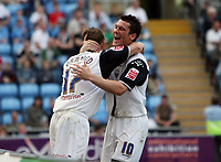 Photo: Rich Eaton.<br /> <br /> Coventry City v Preston North End. Coca Cola Championship. 14/04/2007. Brett Ormerod of Preston celebrates his goal with fellow goalscorer David Nugent right