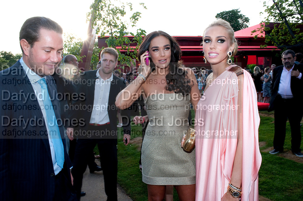 TAMARA ECCLESTONE; PETRA ECCLESTONE The Summer Party. Serpentine Gallery. 8 July 2010. -DO NOT ARCHIVE-© Copyright Photograph by Dafydd Jones. 248 Clapham Rd. London SW9 0PZ. Tel 0207 820 0771. www.dafjones.com.