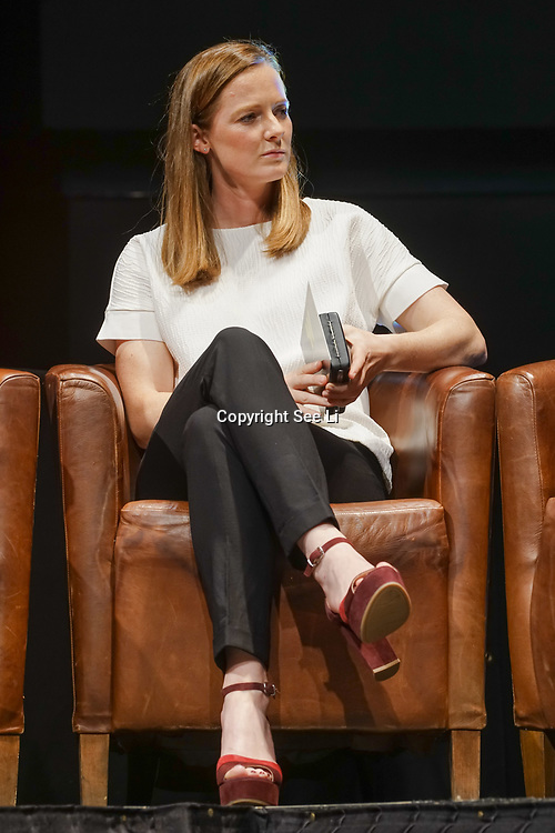 London,England,UK. 11th May 2017. Helen Richardson-Walsh talks at the Women's Sport Trust Awards - #BeAGameChanger at The Troxy,london, UK. by See Li