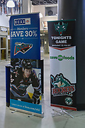 KELOWNA, CANADA - FEBRUARY 17:  Promotions at the Kelowna Rockets game on February 17, 2018 at Prospera Place in Kelowna, British Columbia, Canada.  (Photo By Cindy Rogers/Nyasa Photography,  *** Local Caption ***