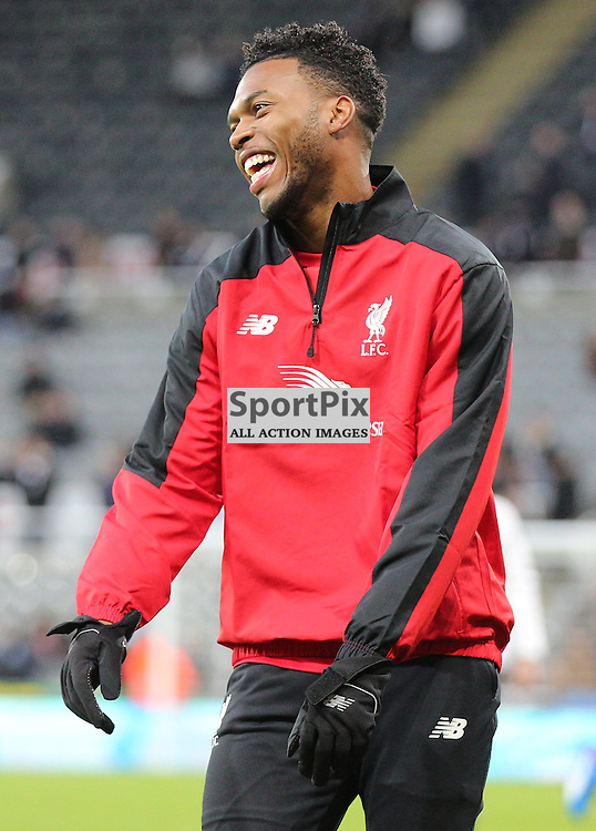 Newcastle United v Liverpool English Premiership 6 December 2015; a relaxed and fit Daniel Sturridge (Liverpool, 15) warms up before the Newcastle v Liverpool English Premiership match played at St. James' Park, Newcastle; <br /> <br /> &copy; Chris McCluskie | SportPix.org.uk
