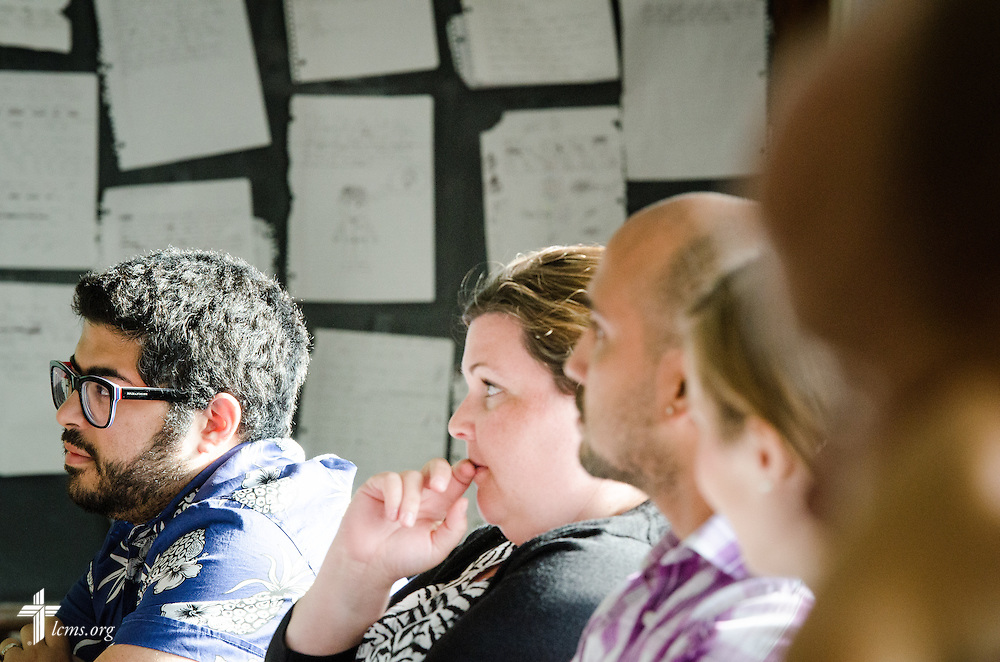 Students listen during an MBA class at Concordia University, Saint Paul, on Tuesday, August 5, 2014, in St. Paul, Minn.   LCMS Communications/Erik M. Lunsford
