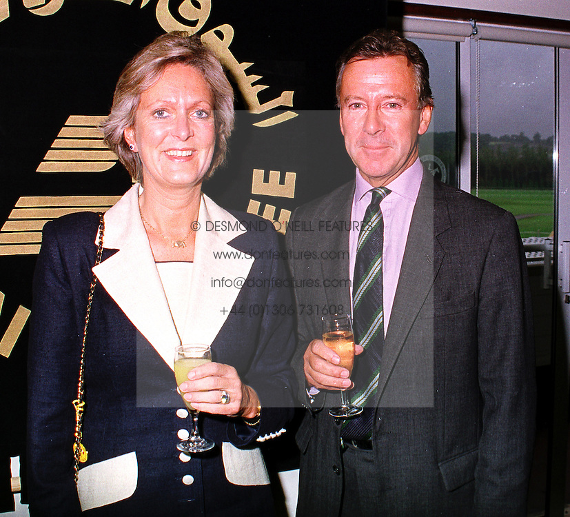 MR & MRS JACK RAMSDEN she is the former trainer, at a race meeting in Berkshire on 19th September 1999.MWM 6