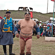 Mongolia. wrestling during the naadam festival in   LUN -    / lutte traditionnelle mongole pendant  le  naadam a   LUN - Mongolie   / L0009352