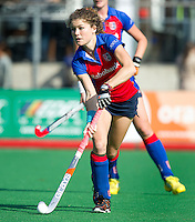 BILTHOVEN - Roos Drost van SCHC , zondag tijdens de hoofdklasse competitiewedstrijd tussen de vrouwen van SCHC en MOP (5-0). COPYRIGHT KOEN SUYK