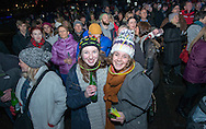 Revellers at Princess Street gardens, Hogmanay celebrations, Edinburgh 2016