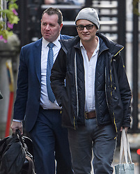 © Licensed to London News Pictures. 04/11/2019. London, UK. DOMINIC CUMMINGS, special adviser to the government of Boris Johnson and Chief Whip MARK SPENCER are seen arriving at 10 Downing Street in London. A general election has been called on December 12th in an attempt to get a Brexit agreement through parliament. Photo credit: Ben Cawthra/LNP
