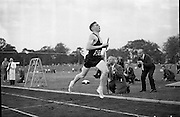 Olympic Gold medallist Ronnie Delany takes part in the athletic meet in Santry stadium..17.07.1961