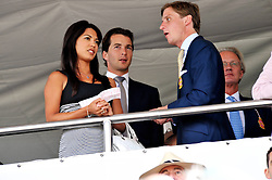 The HON.WILL ASTOR,  LOHRALEE STUTZ and the HON.JAKE ASTOR at day 1 of the annual Glorious Goodwood racing festival held at Goodwood Racecourse, West Sussex on 28th July 2009.