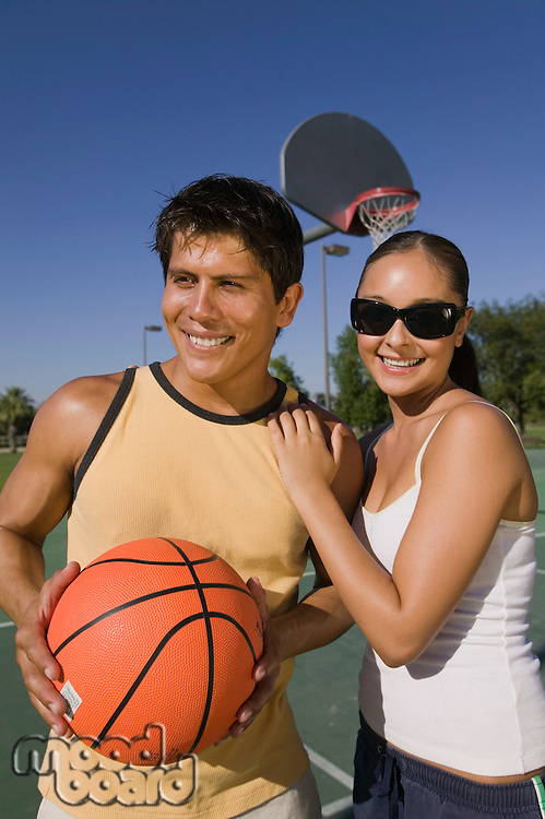 Couple at Basketball Court