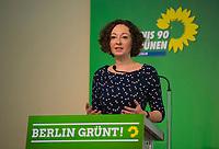 DEU, Deutschland, Germany, Berlin, 21.04.2018: Die Berliner Wirtschaftssenatorin Ramona Pop (B90/Die Grünen) bei der Landesdelegiertenkonferenz von Bündnis 90/Die Grünen in Berlin-Adlershof.