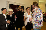 John dunbar, Anita Pallenberg, Walter Cassidy 111, Stella Schnabel and Dan Colen, Private view of the Frieze Art Fair, Regent's Park. 14 October 2004. ONE TIME USE ONLY - DO NOT ARCHIVE  © Copyright Photograph by Dafydd Jones 66 Stockwell Park Rd. London SW9 0DA Tel 020 7733 0108 www.dafjones.com