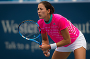 Garbine Muguruza of Spain in action during her second-round match at the 2018 Western and Southern Open WTA Premier 5 tennis tournament, Cincinnati, Ohio, USA, on August 15th 2018 - Photo Rob Prange / SpainProSportsImages / DPPI / ProSportsImages / DPPI